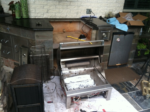 Disassembled Grill